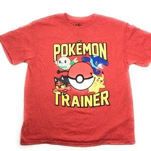 Kid's Pokemon Trainer Boy's Short Sleeve Tee Shirt